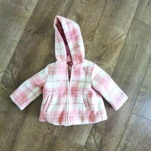 2/$20 Joe Fresh toddler/baby plaid coat 12-18 m